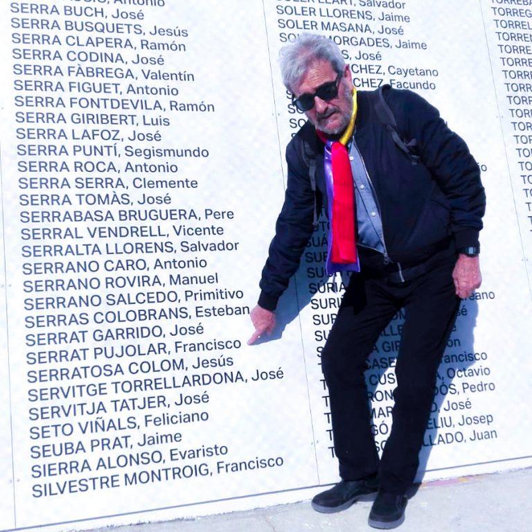 11 Carles Vallejo en el Memorial del Camp de la Bota de Barcelona (2019)